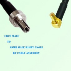 CRC9 Male to SSMB Male Right Angle RF Cable Assembly