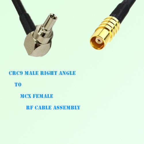 CRC9 Male Right Angle to MCX Female RF Cable Assembly