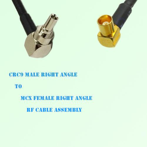 CRC9 Male Right Angle to MCX Female Right Angle RF Cable Assembly