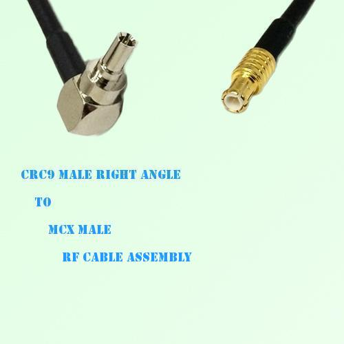 CRC9 Male Right Angle to MCX Male RF Cable Assembly