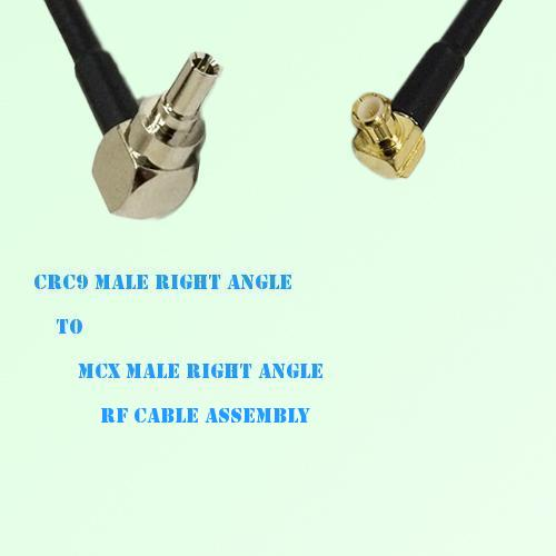 CRC9 Male Right Angle to MCX Male Right Angle RF Cable Assembly
