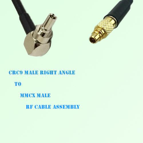 CRC9 Male Right Angle to MMCX Male RF Cable Assembly