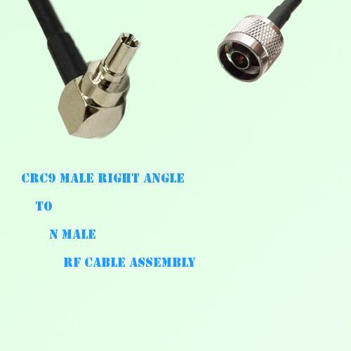 CRC9 Male Right Angle to N Male RF Cable Assembly