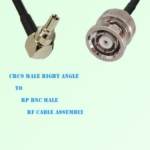 CRC9 Male Right Angle to RP BNC Male RF Cable Assembly