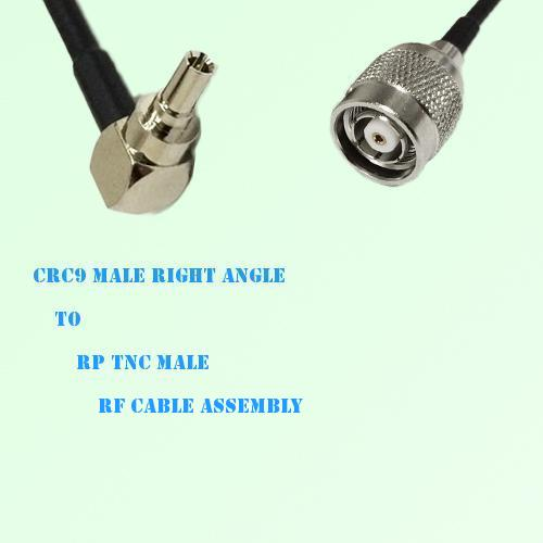 CRC9 Male Right Angle to RP TNC Male RF Cable Assembly