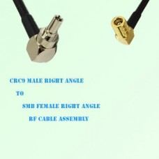 CRC9 Male Right Angle to SMB Female Right Angle RF Cable Assembly
