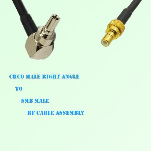 CRC9 Male Right Angle to SMB Male RF Cable Assembly