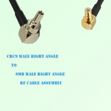 CRC9 Male Right Angle to SMB Male Right Angle RF Cable Assembly