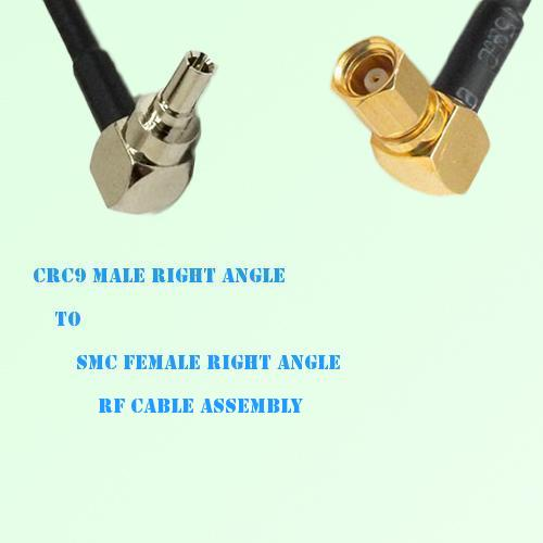 CRC9 Male Right Angle to SMC Female Right Angle RF Cable Assembly
