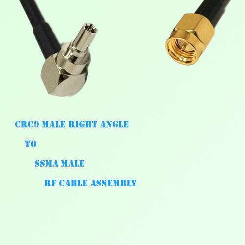 CRC9 Male Right Angle to SSMA Male RF Cable Assembly
