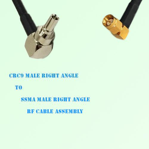 CRC9 Male Right Angle to SSMA Male Right Angle RF Cable Assembly