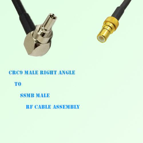 CRC9 Male Right Angle to SSMB Male RF Cable Assembly