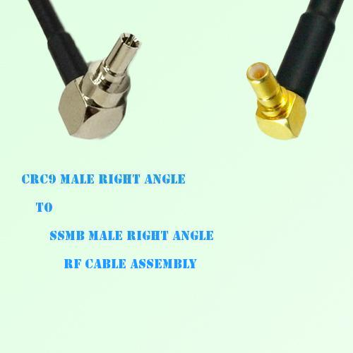 CRC9 Male Right Angle to SSMB Male Right Angle RF Cable Assembly