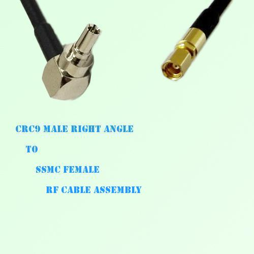CRC9 Male Right Angle to SSMC Female RF Cable Assembly
