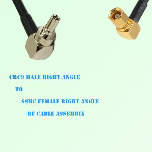 CRC9 Male Right Angle to SSMC Female Right Angle RF Cable Assembly