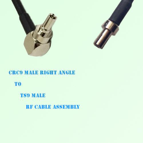CRC9 Male Right Angle to TS9 Male RF Cable Assembly
