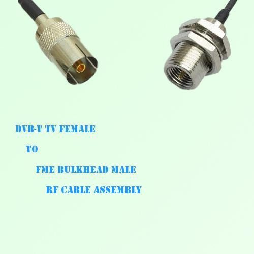 DVB-T TV Female to FME Bulkhead Male RF Cable Assembly
