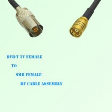 DVB-T TV Female to SMB Female RF Cable Assembly