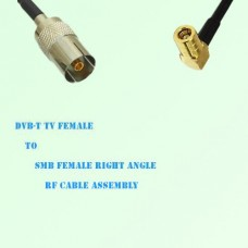 DVB-T TV Female to SMB Female Right Angle RF Cable Assembly