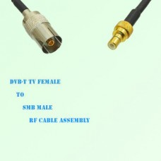 DVB-T TV Female to SMB Male RF Cable Assembly