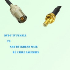 DVB-T TV Female to SMB Bulkhead Male RF Cable Assembly