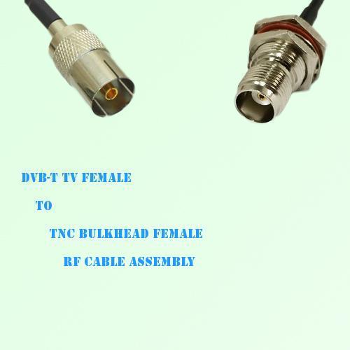 DVB-T TV Female to TNC Bulkhead Female RF Cable Assembly