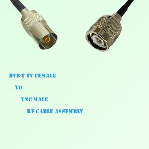 DVB-T TV Female to TNC Male RF Cable Assembly