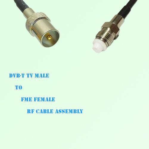DVB-T TV Male to FME Female RF Cable Assembly