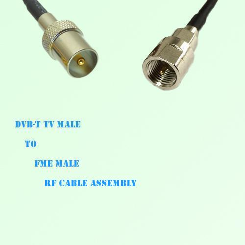DVB-T TV Male to FME Male RF Cable Assembly