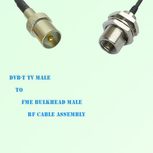 DVB-T TV Male to FME Bulkhead Male RF Cable Assembly