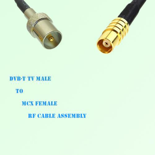 DVB-T TV Male to MCX Female RF Cable Assembly