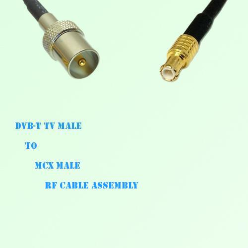 DVB-T TV Male to MCX Male RF Cable Assembly