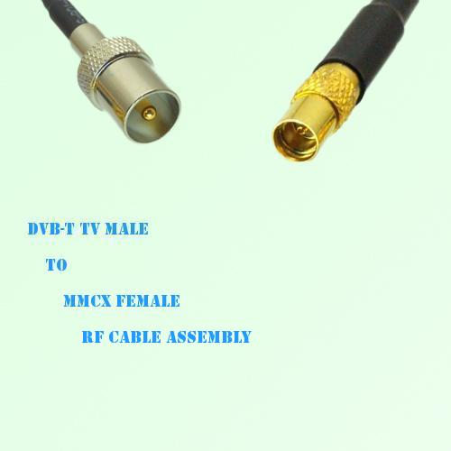 DVB-T TV Male to MMCX Female RF Cable Assembly