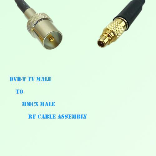 DVB-T TV Male to MMCX Male RF Cable Assembly