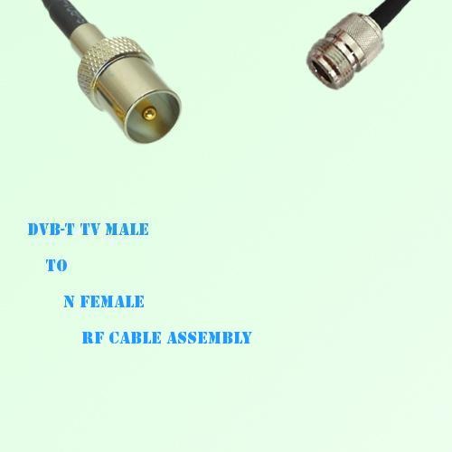 DVB-T TV Male to N Female RF Cable Assembly