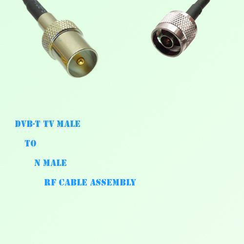 DVB-T TV Male to N Male RF Cable Assembly