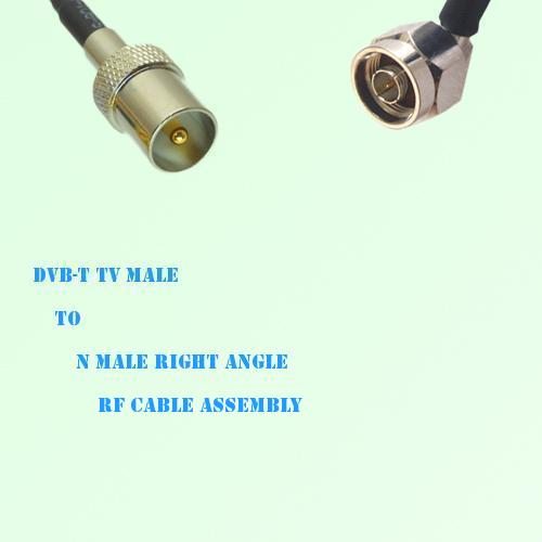 DVB-T TV Male to N Male Right Angle RF Cable Assembly