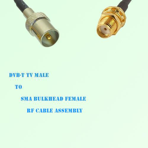 DVB-T TV Male to SMA Bulkhead Female RF Cable Assembly