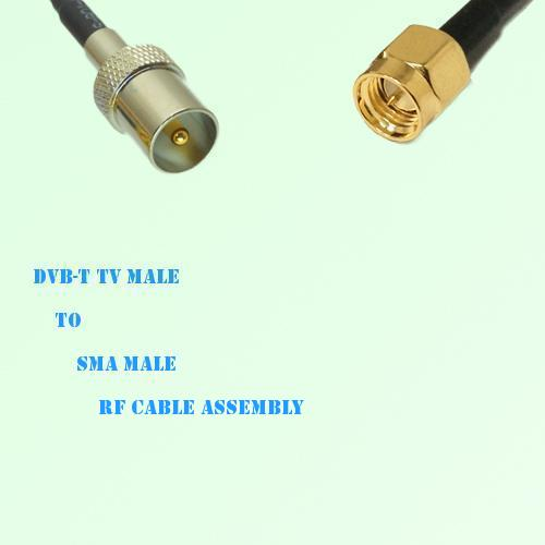DVB-T TV Male to SMA Male RF Cable Assembly