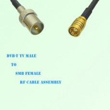 DVB-T TV Male to SMB Female RF Cable Assembly