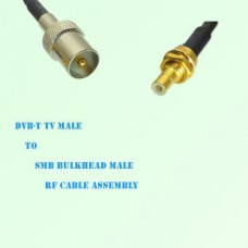 DVB-T TV Male to SMB Bulkhead Male RF Cable Assembly