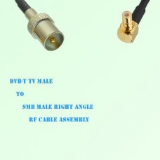 DVB-T TV Male to SMB Male Right Angle RF Cable Assembly