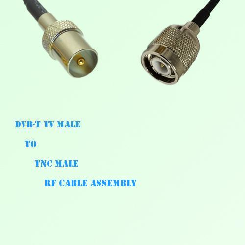 DVB-T TV Male to TNC Male RF Cable Assembly