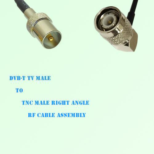 DVB-T TV Male to TNC Male Right Angle RF Cable Assembly