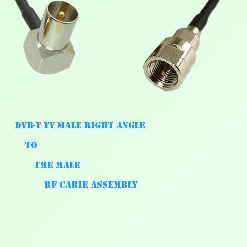 DVB-T TV Male Right Angle to FME Male RF Cable Assembly