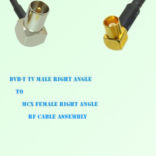 DVB-T TV Male Right Angle to MCX Female Right Angle RF Cable Assembly