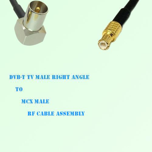 DVB-T TV Male Right Angle to MCX Male RF Cable Assembly