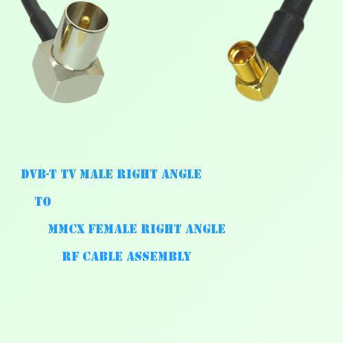 DVB-T TV Male Right Angle to MMCX Female Right Angle RF Cable Assembly