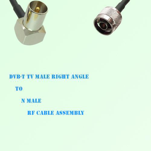 DVB-T TV Male Right Angle to N Male RF Cable Assembly