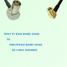 DVB-T TV Male Right Angle to SMB Female Right Angle RF Cable Assembly